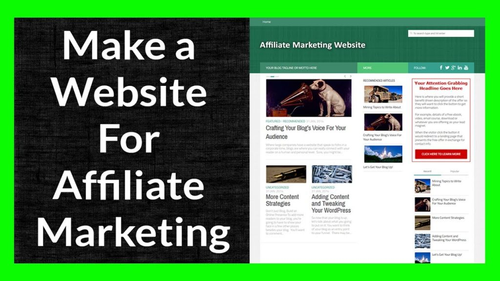 Building Affiliate Marketing Websites